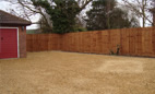 Driveway and boundary fencing
