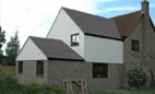 Two storey extension to detached house